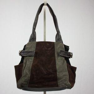 Tignanello suede patchwork bag